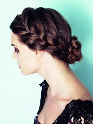 French Braided Bun Hair style