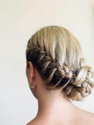 French Braided Bun Hairstyle