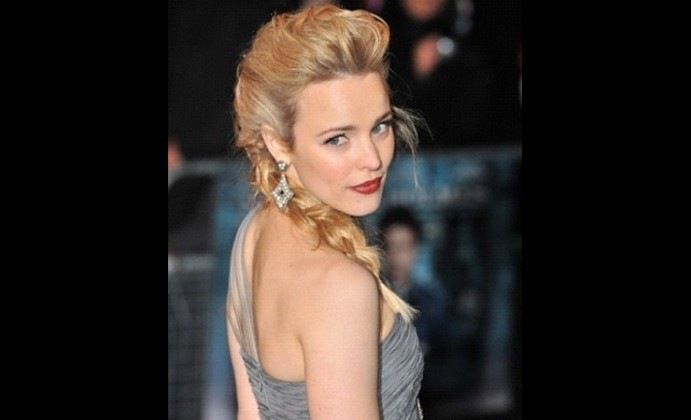 Simple Braid With Poof Hairstyle for blond