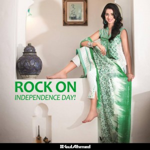 Gul Ahmed Independence Day Collection-Semi-Formal