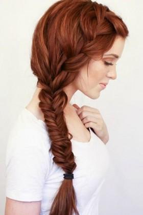 French Braided -Bun Hairstyle