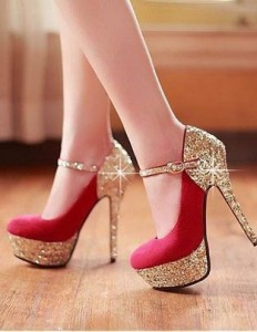 High Heels for Tiny Girls - Plateform Red Heels