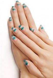 nail art - tir dye