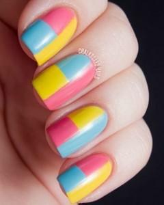 nail art - block colour