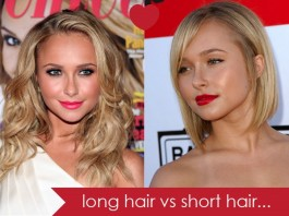 short hair vs long hair - hairs style - long hair vs short hair - celebrities in long hairs and short hairs - hair Styles