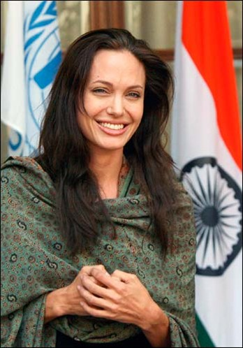Easy Hairstyle For Salwar Suit : Angelina jolie spotted wearing salwar kameez fashion ki batain