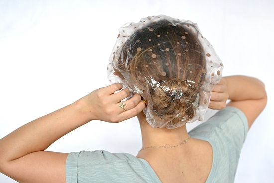 plastic mask to cover head - DIY hair treatment - DIY hair care - diy HAIR FALL SOLUTION