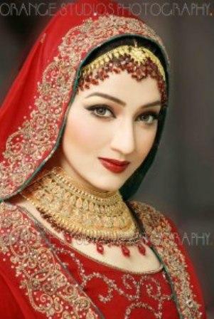 Bridal Makeup Ki Photo : red dress bride - eastern bridal makeup tip - western ...