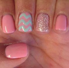 Girly Nail Art Ideas stripes