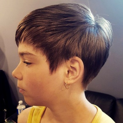 Cropped Feathered Haircut Short Hairstyles For Girls