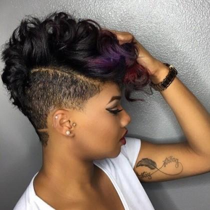 short haircut style for black women