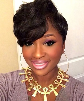 short haircut style for black women