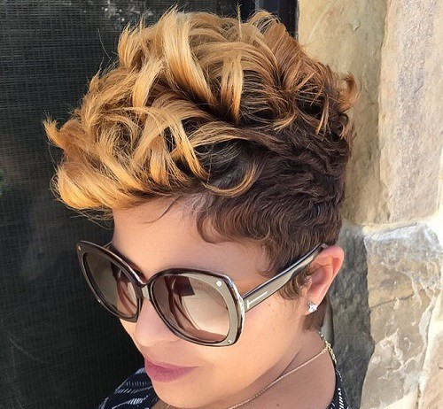 Spiral Ombre Hairstyle