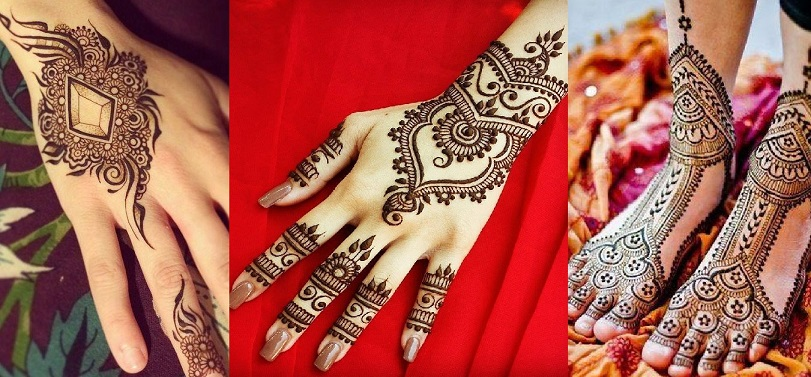 Best Stylish Designs - Light and heavy designs for hands and feet for this eid