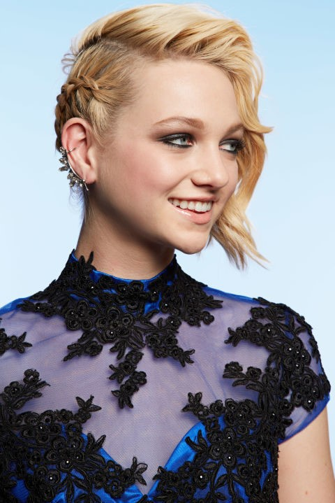 the unreal Undercut - Fashionable girl hairstyle for the prom