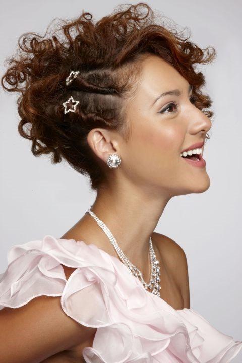 twist on the side - the independent hairstyle look for prom