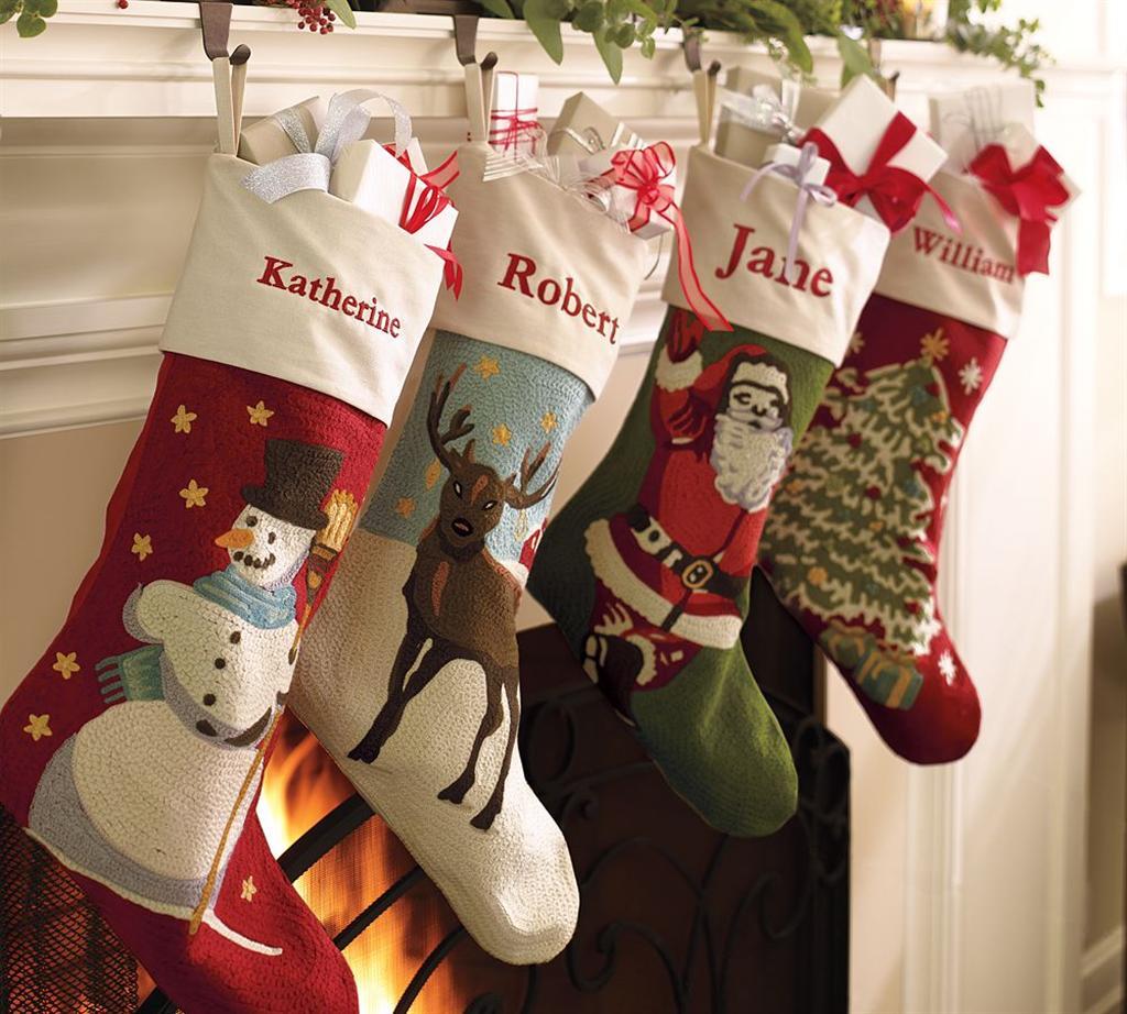 monogrammed stockings christmas 2 - Unique Christmas Stockings