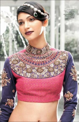 High Neck Blouse Designs for your saree this year