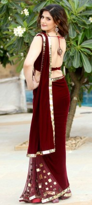 Deep back neck blouse designs for your sari