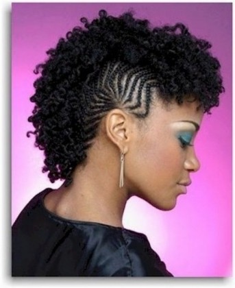 braided mohawk with kinky curly hair | black hairstyles regarding afro mohawk hairstyles afro mohawk hairstyles With regard to beauty - Proper Hairstyles