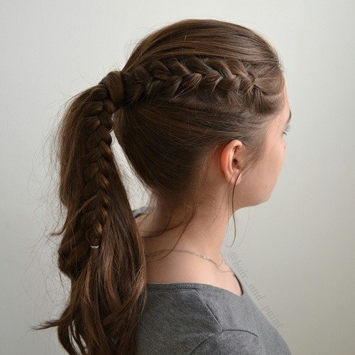 May 17, · Fancy-up your standard half-up style by pulling back a second layer to create a two-in-one ponytail. Bonus points for wrapping things up with a metallic tie like the ones Adir Abergel placed on.