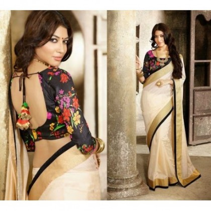 Deep back neck blouse designs for your saree