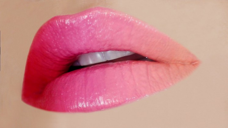 ombre attractive lips