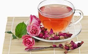 rose petal green tea