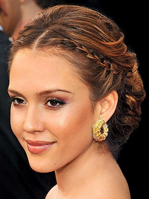 Eid hairstyles - French Braided Bun