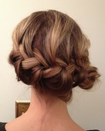 French Braided Bun Hair style