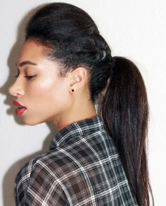 Simple Braid With Poof Hairstyle