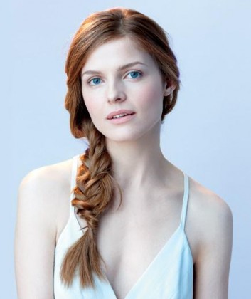 Simple Braid With Poof Hairstyle, fishtail