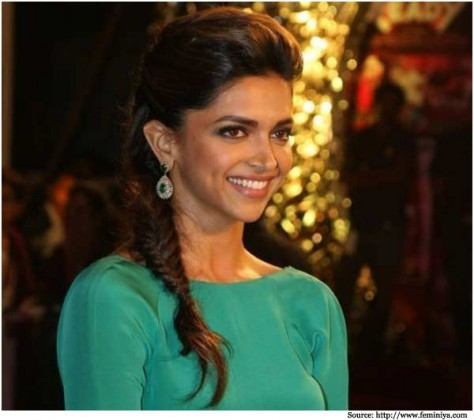 deepika-padukone Simple Braid With Poof Hairstyle