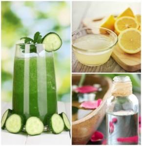 sun Tan Removal-Cucumber, Lemon Juice and Rose Water Pack