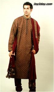 Maroon-Colour-embroidered-Kurta-Pajama for groom
