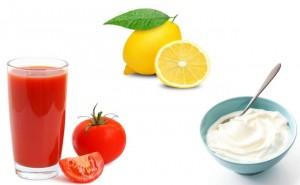 Sun Tan Removal-Tomato, Lemon Juice and Yoghurt Face Pack