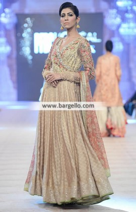 latest pakistani fashion trends - Angrakha style dress for Special Occasions