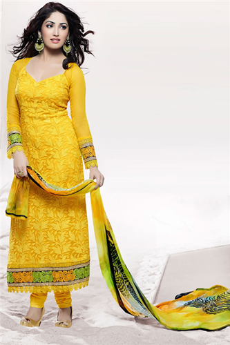Pakistani Semi Formal Dresses 2014 2015 001 She Stylesspot