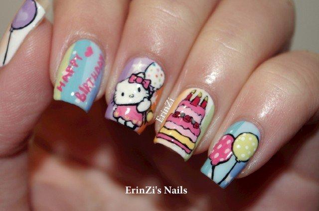 Nail Art Guide Birthday Party Girly Nail Art Fashion Ki Batain