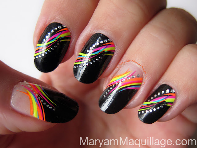 Funky Party Girly Nail Art