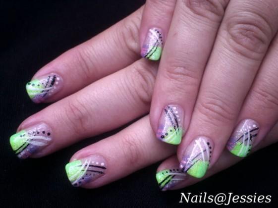 Funky Party Girly Nail Art - Nail Art Guide