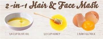 egg honey oil hair mask DIY hair treatment - DIY hair care - diy HAIR FALL