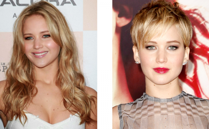 hairs style - long hair vs short hair - celebrities in long hairs and short hairs - hair Styles