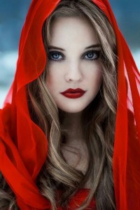 red lips bloody look