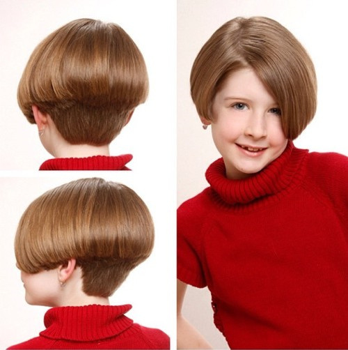 Haircut Of Girl Child: Stacked-bob-haircut-short-hairstyles-for-small-cute-girls