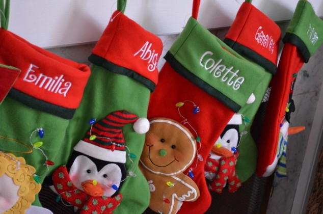 Monogrammed stockings for kids 11