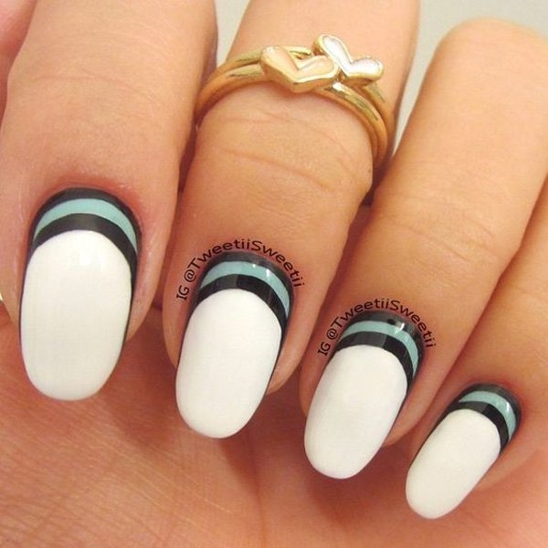 Over The Moon Lunular Style Nail Art Crescent Moon Nails 7 Fashion