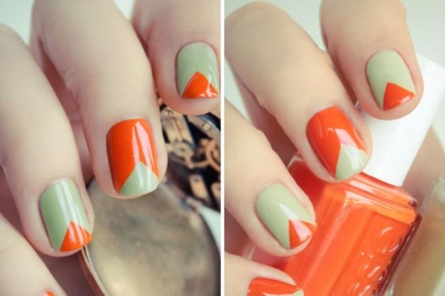 Trendy Triangles nail art design