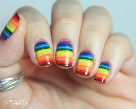 Visual Stripes Achieve best nail art