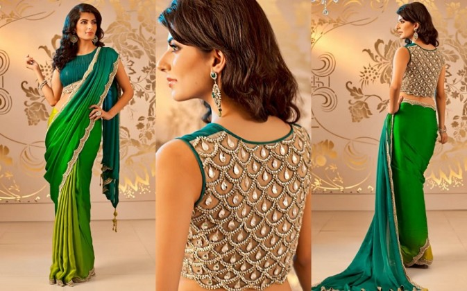Saree Draping Styles for slim looks